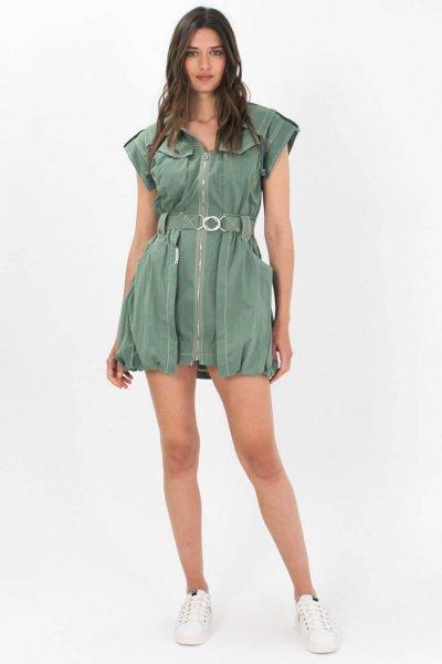 Vestido HIGHLY PREPPY Safari Caqui 7838