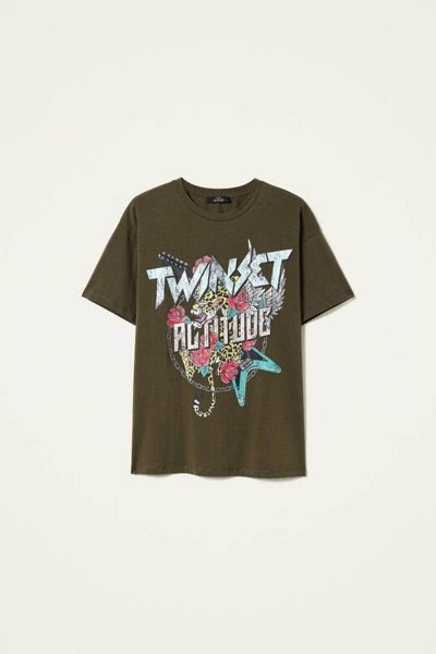 Maxi Camiseta TWINSET Rock Estampado 212AP2443
