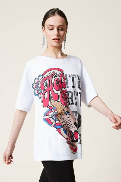 Maxi camiseta TWINSET Jaguar Estampado 212AP2443