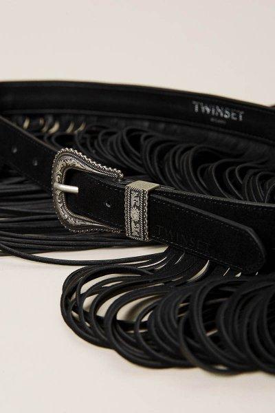 Cinturón TWINSET De Piel Con Flecos 212TA4117