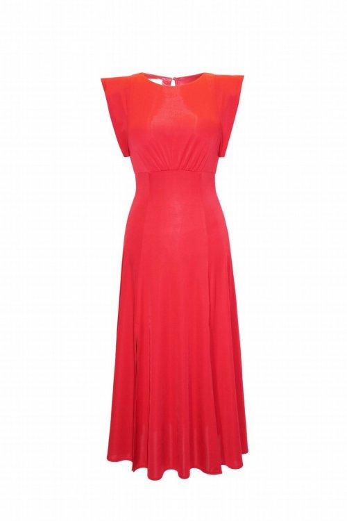 Vestido CARLA RUIZ Midi Rojo 98040