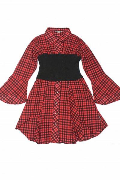 Vestido CARMEN HORNEROS Vichy Rojo 7802