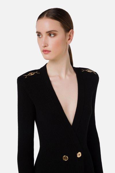 Vestido ELISABETTA FRANCHI Abrigo de Punto AM41S16E2