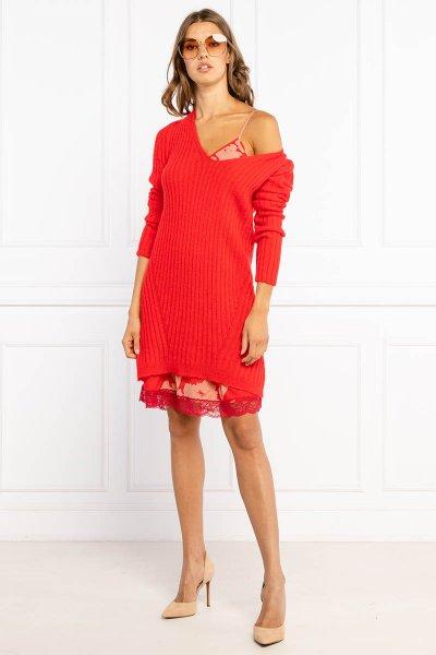 Vestido TWINSET Mixto De Mohair Con Vestido Lencero 212TP3500