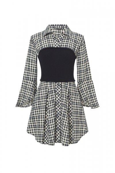 Vestido HIGHLY PREPPY Vichy Crudo 7802