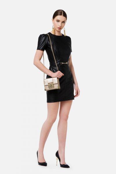 Vestido ELISABETTA FRANCHI Cintura Broche Oro AB02716E2