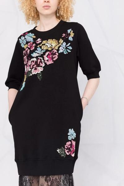 Vestido BLUGIRL Bordados Flores Aplicación Encaje 500054