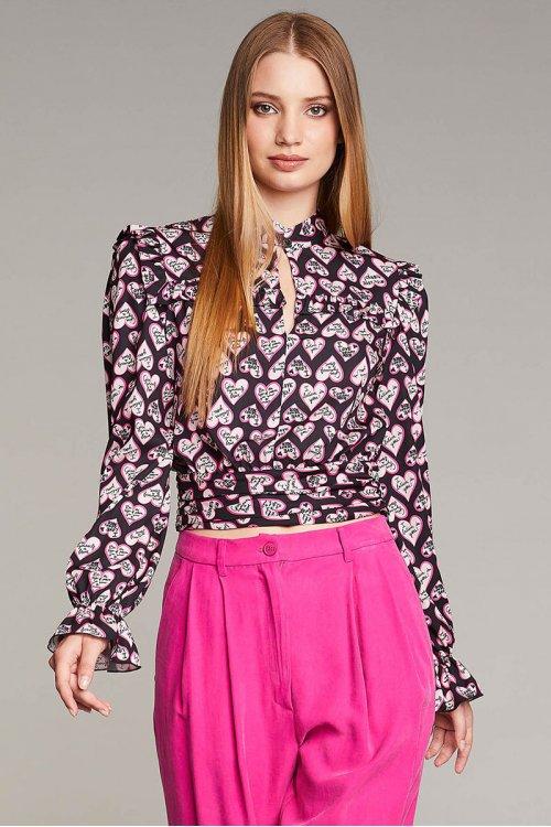 Camisa DENNY ROSE Print Corazones 121DD40010