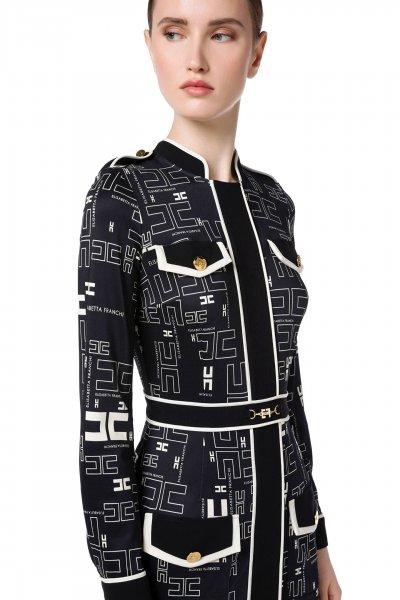 Vestido ELISABETTA FRANCHI Camisero Estampado Logotipos AB02016E2
