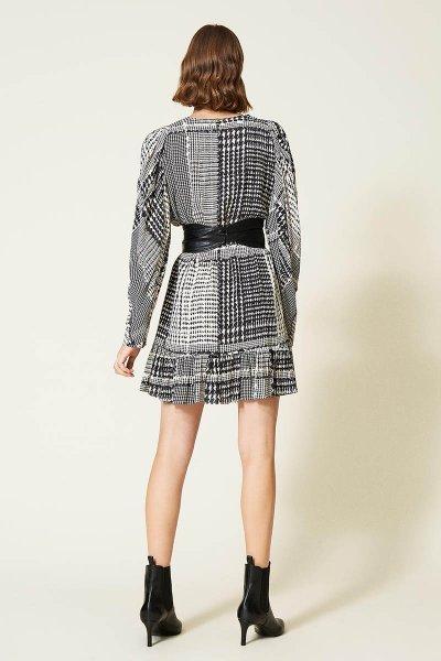 Vestido TWINSET Estampado De Pata De Gallo 212TT234C