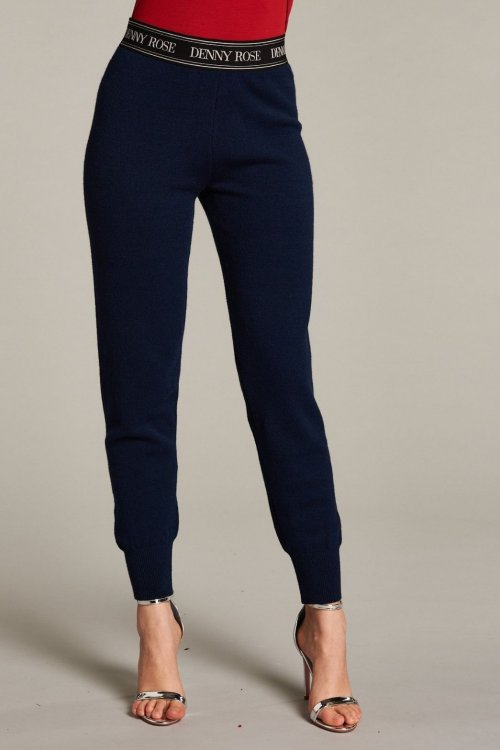 Pantalón DENNY ROSE Punto Azul Marino 121DD50018