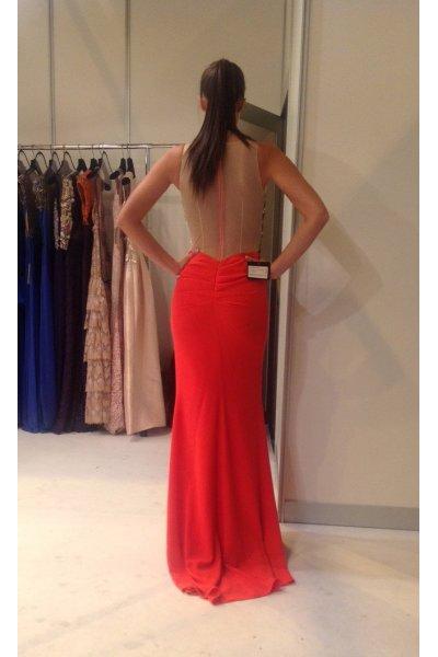 Vestido MUZAFFER Largo Rojo
